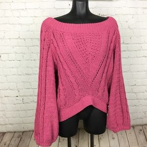 Express/ cable knit sweater top
